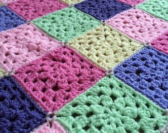 Beautiful 'Summer colours' Crochet Blanket