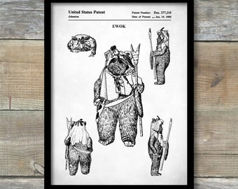 Star Wars Ewok Poster, Ewok Patent, Ewok Print, Ewok Art, Ewok Decor, Ewok Wall Art, Ewok Blueprint, p194