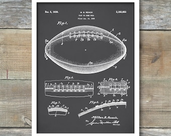 Patent Print, Football Patent, Football Poster, Football Print, Football Ball Art, Football Decor, Sports Decor , Football Mom, P195