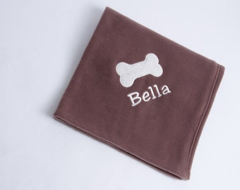 Personalised Embroidered Pet Fleece Blanket  Dog Cat Puppy Kitten