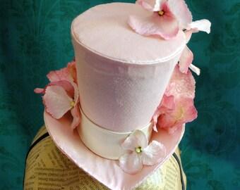 Mini Top Hat in Pink,Bridal Mini Top Hat,Bridesmaid Mini Top Hat,Tea Party Mini Top Hat - Ready to Ship