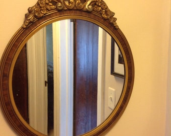 SALE:  Was 49.99 Now 35.00 ....Vintage Barbola Style Mirror, 1940s, Art Deco,French,