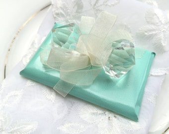 Blue Aqua Turquoise Unique Wedding Favor Chocolate with Diamonds, Winter Wedding Favors