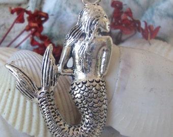 Mermaid Jewelry Charm,Mermaid Pendant, Mermaid Jewelry Making Charm,Bracelet Mermaid charms,Nautical charm,