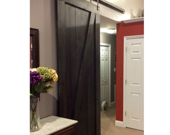 Custom Made Sliding Barn Door - Z Design - Onyx