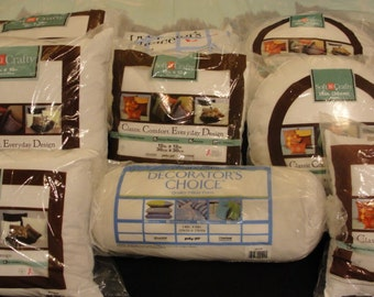Pillow Forms*Soft N Crafty*Decorator's Choice*Square Pillow Form*Round Pillow Form*Rectangle Pillow Form