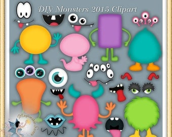 Monsters Clipart, DIY Monsters 2015