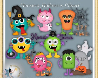 Monsters Halloween Clipart