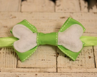 Pebbles Bone Hair Bow Headband