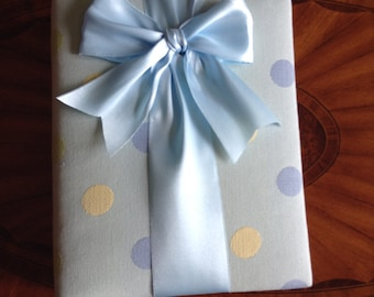 Blue Polka Dot Photo Album with Ribbon to Hold Your Treasured Memories!