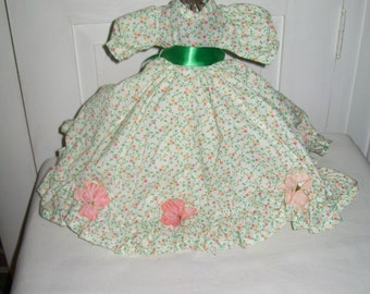 Vintage Doll Long Floral Dress