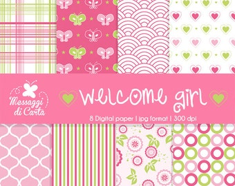Digital paper <3 Pink baby Girl <3