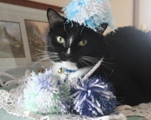 Cat Toys - Sea Foam Yarn Toy Set- Handmade