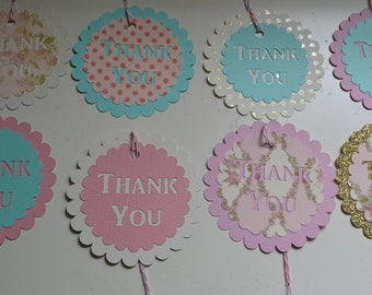 Thank You tags, Party Favor Tags