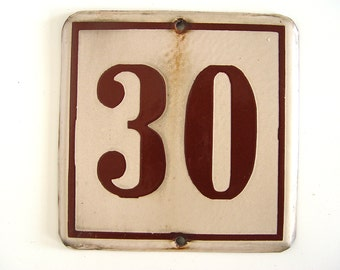 Enamel Metal Sign 30
