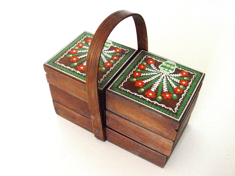 Vintage Wooden Sewing Box Haute Juice
