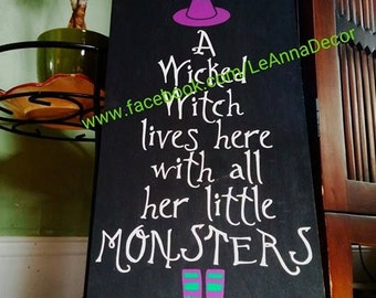Wicked witch and her monsters