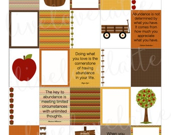 AUTUMN APPLE PICKIN' Abundance for use with Erin Condren Life Planner (vertical) - digital - Instant Download