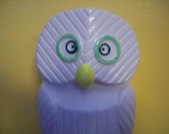 Vintage Fine Quality Lego Korea white, ceramic Owl Bank
