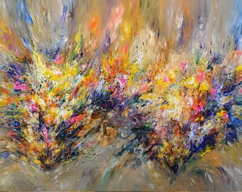 """118.1 """" x 78.8 """" XL Large Abstract Painting Original XL Acrylic Canvas Big Size Abstrakt Großes Gemälde ,UNSTRETCHED! by Peter Nottrott"""