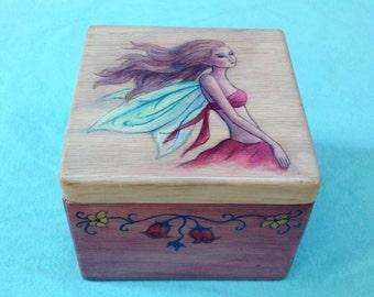 Handmade Fairy Keepsake Jewelry Box