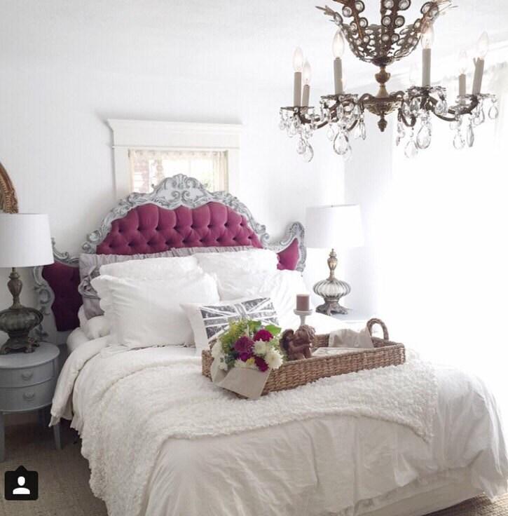 En attente antique baroque t te de lit king size bed rococo - Tete de lit king size ...