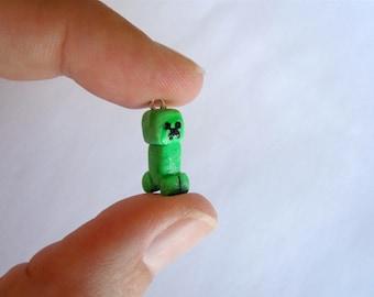 Minecraft Creeper Polymer Clay Charm