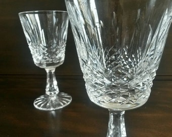 "Waterford ""Kenmare"" Crystal Wine Goblets S/2"