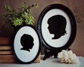 Hand Drawn Digital Silhouette Cameo Portraits, Custom Portrait from Photo Made to Order - Perfect for the Nursery