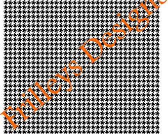 Black & white mini houdstooth   Craft vinyl HTV or Adhesive vinyl