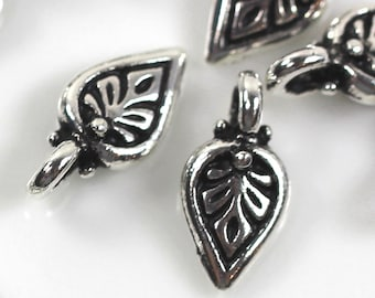 "10 pcs.~ TIERRACAST~ ""Palmette"" ~ Fine Silver Plated and Antiqued Lead Free Pewter"