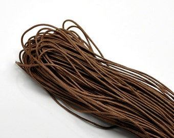 30ft Coffee Brown Wax Cotton Cord Bracelet Necklace Cord 1.5mm (No.624)