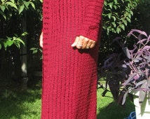 long cardigan, lace cardigan. burgundy  Cardigan, crochet, romantic,   extra Long Jacket, maxi cardigan,  spring to summer Size:Medium-Large