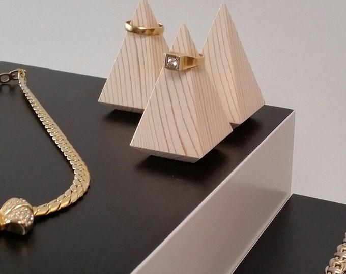Ring cone Ring Holder Pine Wood Ring Holder Ring Stand Ring Storage Jewelry Storage Wedding Ring Holder Jewelry Sieraden Opbergen Sieraden