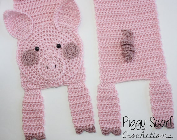 Crochetions Piggy Scarf
