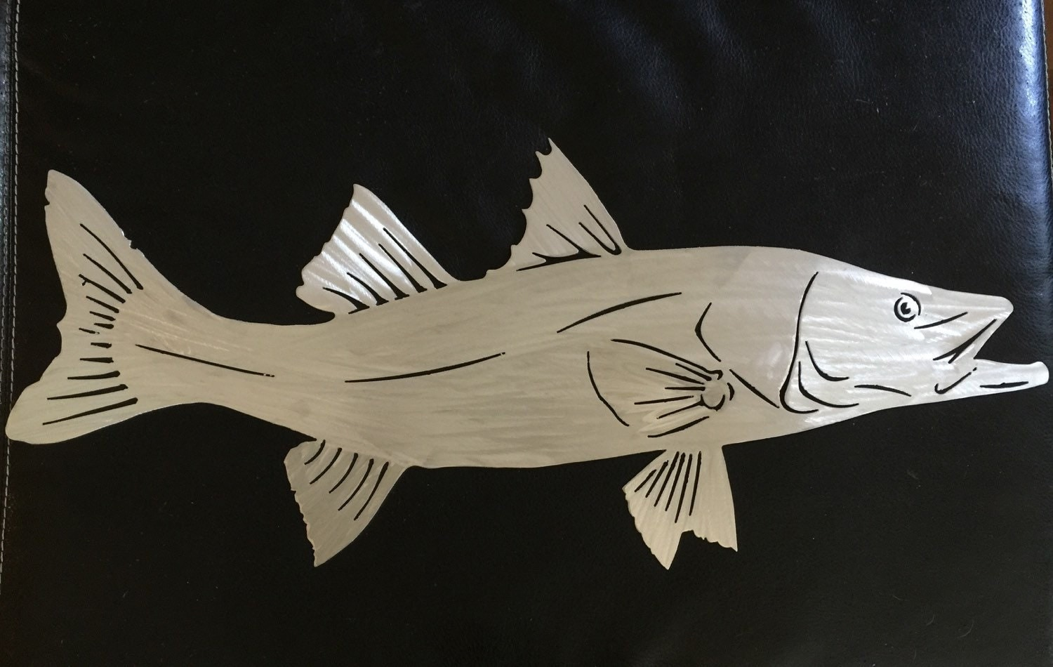 Metal gamefish artist reveals works fish wall art snook for Fish wall art