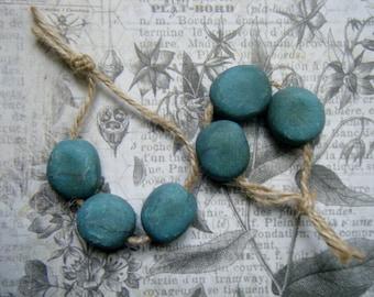 NEW! Rustic Pebbles, Stream, ONE Set,  Faux Pebble Bead, Rustic Pebble Bead, Polymer Clay Pebble Bead