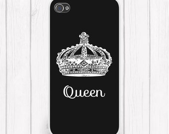 Queen Personalized Phone Case Choice of Colors            Case iPhone 6/6S, iPhone 5/5S, iPhone SE, Samsung iPhone7 iPhone 7