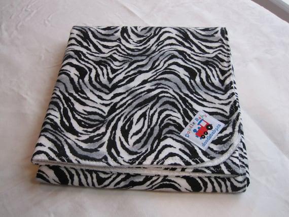 Tweens/Teens, Waterproof Bed Pads - Black and White Zebra