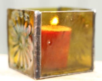 Recycled Glass Wine Bottle Votive Candle Holder