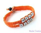 Hers and Hers, Bracelets for LGBT Couples, Handmade Hemp Jewelry