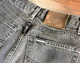 Vintage Harley Davidson Faded Black Denim Jeans