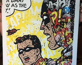 Batman Pop Art Poster Screen Print