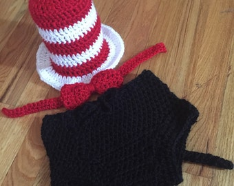 Dr. Suess crochet baby outfit