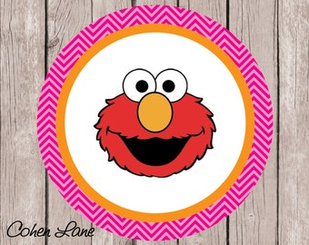 Instant Download Printable Elmo Iron On Transfer Design. Girls Elmo Iron On.  Elmo Transfer.