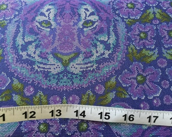 Crouching Tiger in Amethyst - Eden by Tula Pink