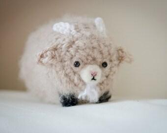 Cute Mystery Pygmy Goat Amigurumi Kawaii Goat - Amigurumi Goat Crochet  OOAK