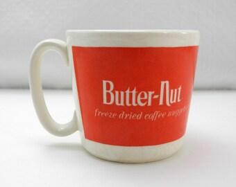 Vintage Butter-Nut Coffee Cup - Freeze Dried Coffee Nuggets Mug