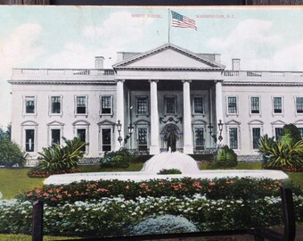 Antique POSTCARD c1908 White House WASHINGTON, DC Unused