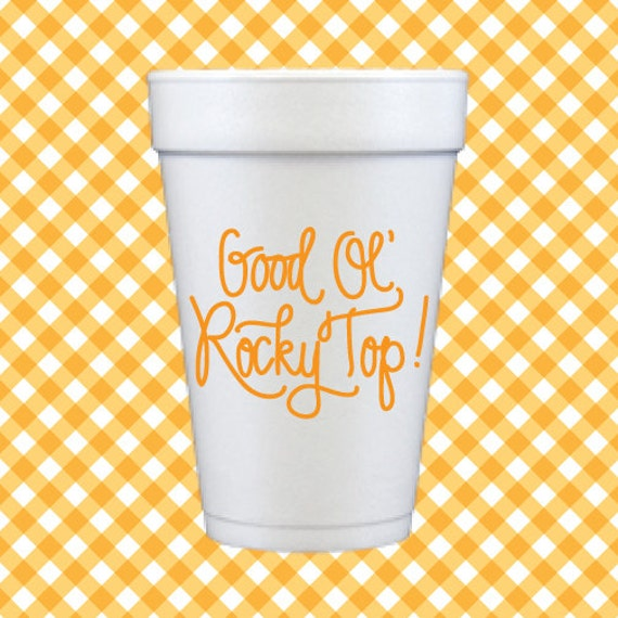 Rocky Top Foam Cups (Qty 24)